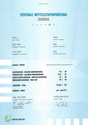 C1 certifikát jazykové zkoušky