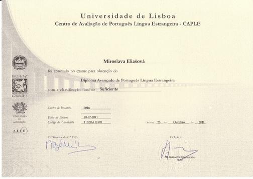 Mezinárodní zkouška z portugalského jazyka, úroveň C1